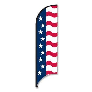 11' Street Talker Complete Feather Flag Kit (US Flag)