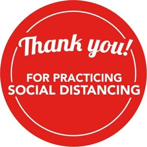 "10"" Round Social Distancing Floor Wall Graphics (Thank You For Practicing)"